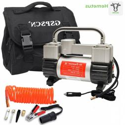 GSPSCN Tire Inflator Heavy Duty Double Cylinders with Portab