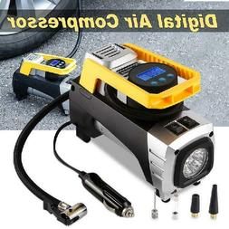Air Compressor Pump, Tsumbay Double Cylinder Portable Car Ai