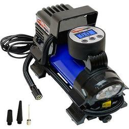 12V Air Compressor Pump Digital Tire Inflator Led Flashlight