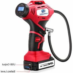 Cordless Battery Powered Power Tire Inflator Filler Inflater