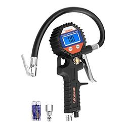 SUAOKI Digital Tire Pressure Gauge 150 PSI with Hose and Qui