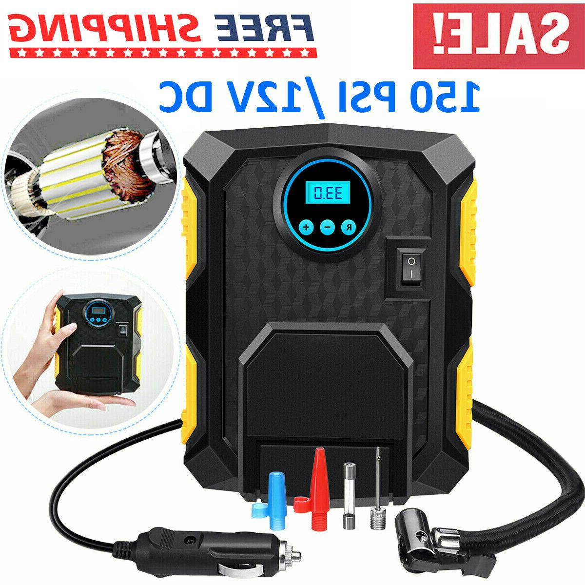 Tire Inflator Air Pump Auto 12V 150