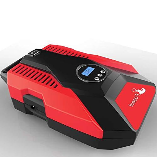 Foseal Portable Air 12V PSI Shutoff Easy to Use,Overheat Noisy for Bicycle Motorcycle etc