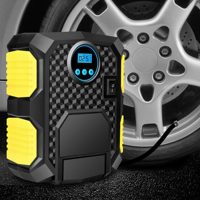 12v lcd portable tire inflator auto air