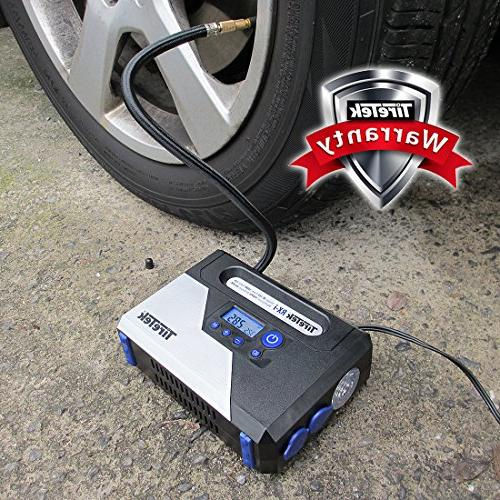 TireTek Tire Air Pump - 12v Compressor With Off