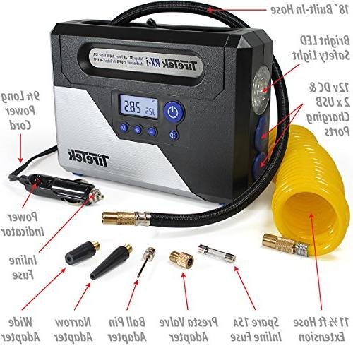 TireTek Digital Car Tire - 12v Compressor With Auto Off