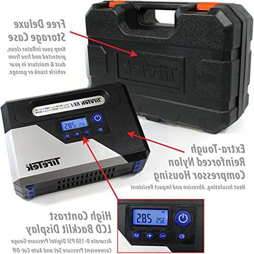 TireTek RX-i Car Tire Inflator - Air Compressor With Auto Shut Off