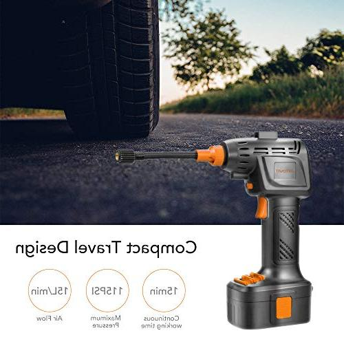 autowit Cordless Portable for Bike Inflatables Gauge LI-ion 12V Automatically Stops
