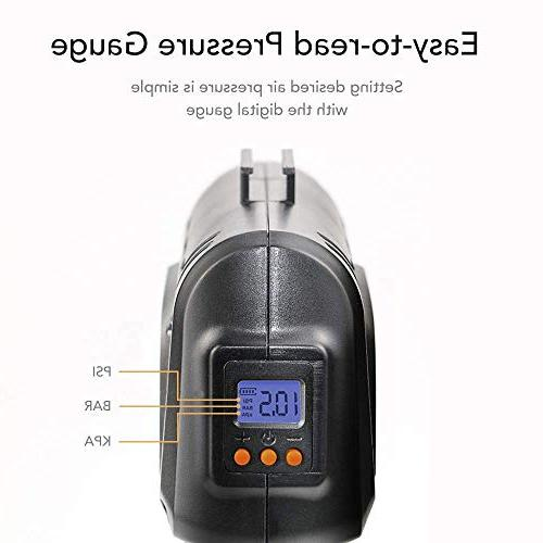 autowit Portable Air Compressor for Bike Inflatables Pressure LI-ion Battery Automatically