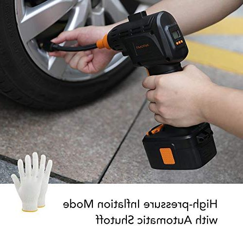 autowit Tire Portable Handheld Compressor for Inflatables Pressure LI-ion Automatically