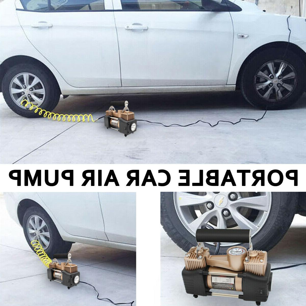 HEAVY Compressor Tire Pump Inflator Double