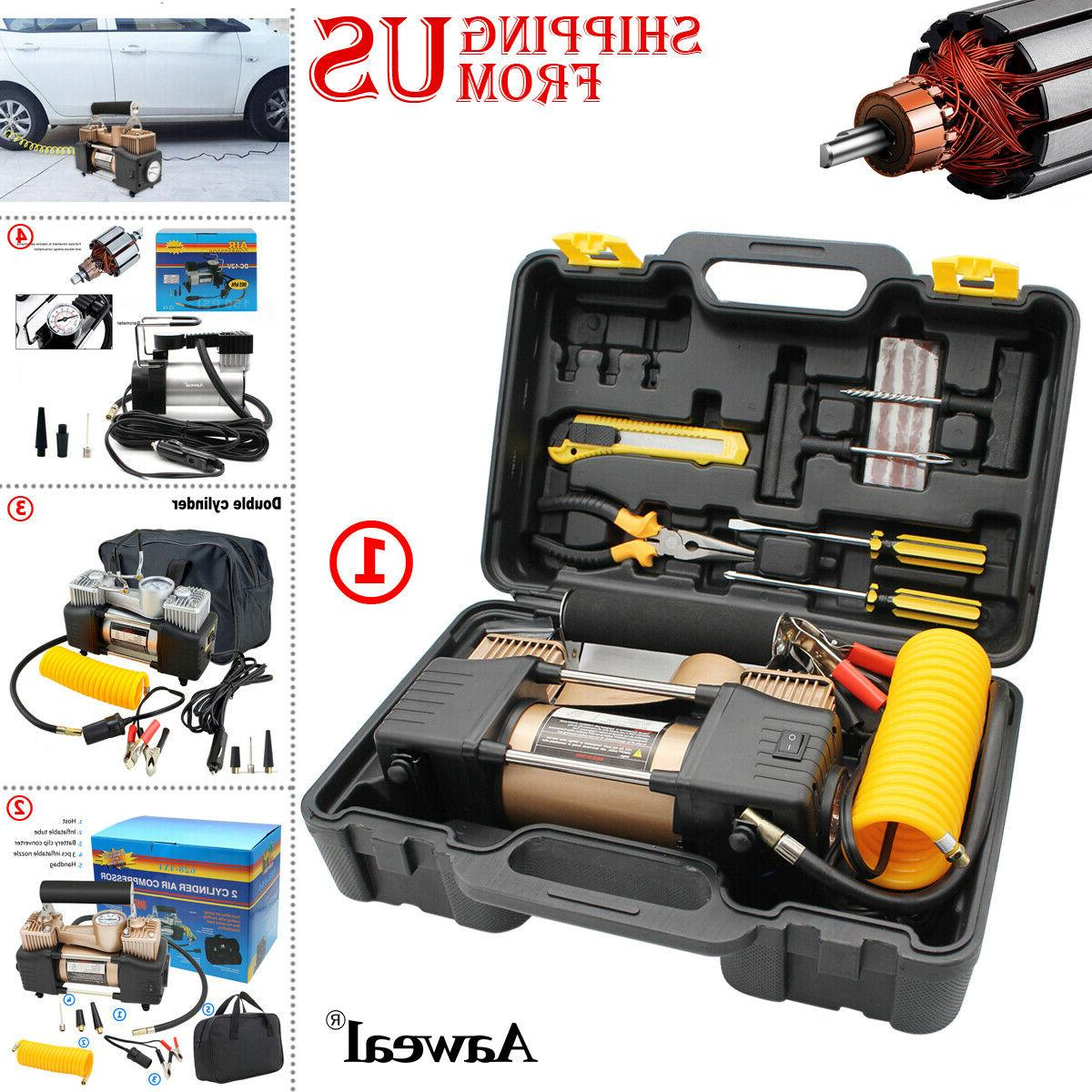 heavy duty portable air compressor for car