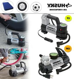 Portable 12V 120V Inflator Glow-in-the-dark Analog Pumping A